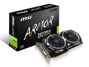 MSI GeForce GTX 1070 ARMOR 8G OC GTX1070 8GB GDDR5